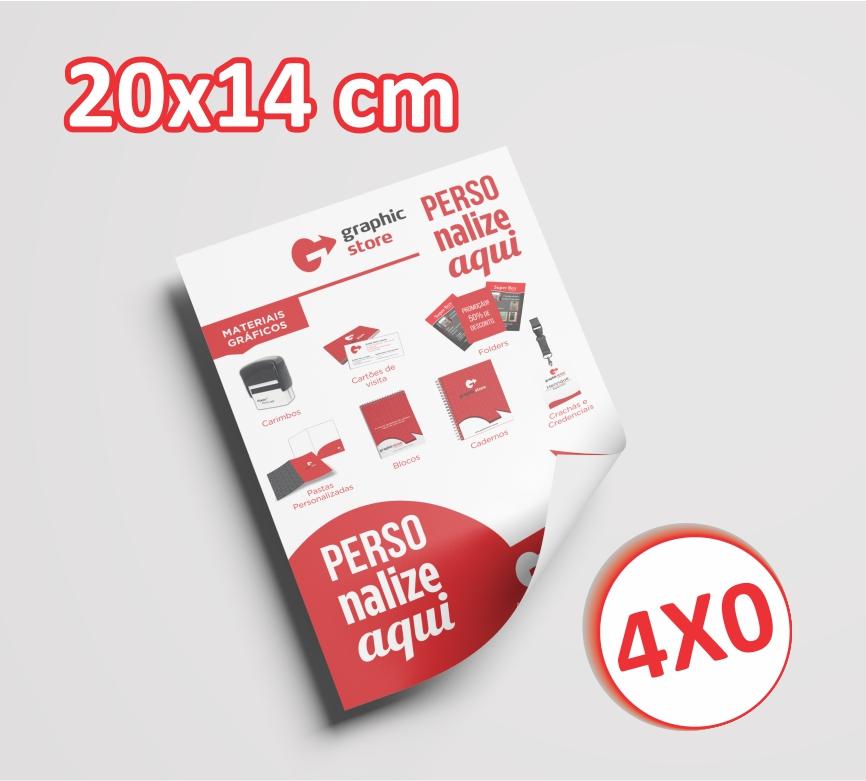 10000 Panfletos/ folders - 14x20cm - 4x0 cores
