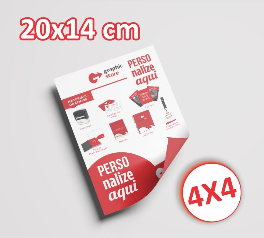 10000 Panfletos/ folders - 14x20cm - 4x4 cores