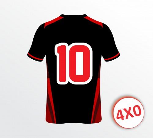 Camiseta de Futebol - Aplicação 02 Números - 4x0