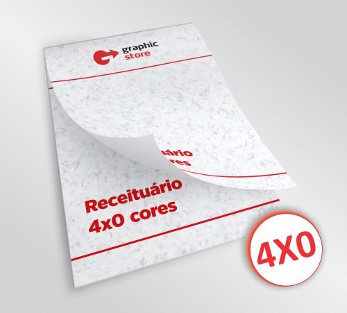Receituário 14x20cm - laser color - 01 bloco - papel trigo 90g