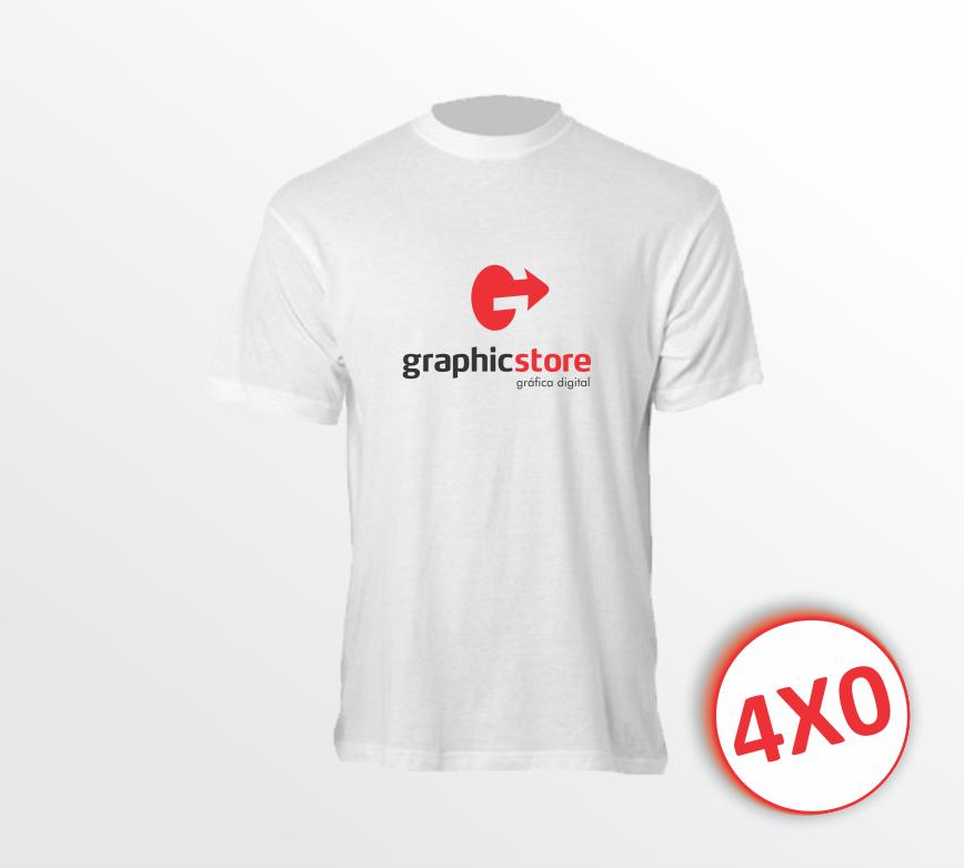 Camiseta Branca - Estampa A4 (P,M, G e GG)
