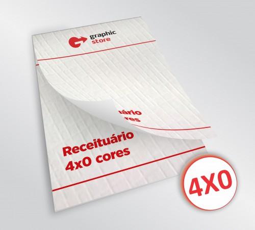 Receituário 14x20cm - laser color - 03 blocos - papel telado 90g