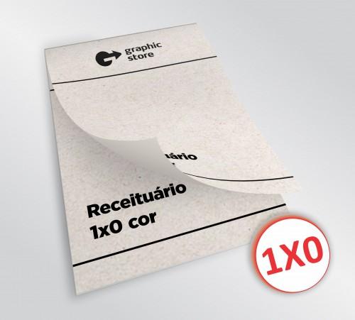 Receituário 14x20cm -  preto - papel reciclado - 01 bloco