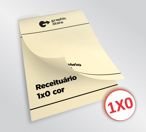 Receituário 14x20cm -  preto - papel marfim - 01 bloco