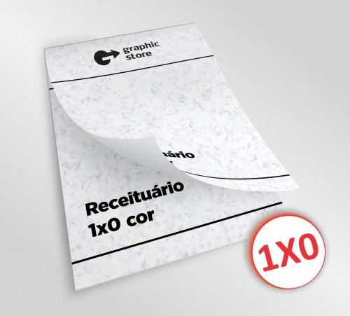 Receituário 14x20cm - preto - papel trigo - 04 blocos