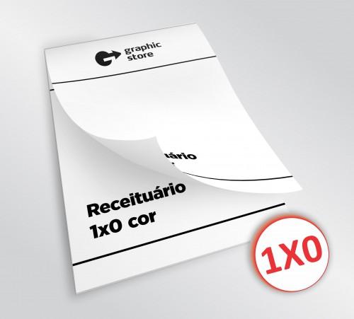Receituário - 1x0 - 14,8x21cm - Impressão offset - 100 blocos