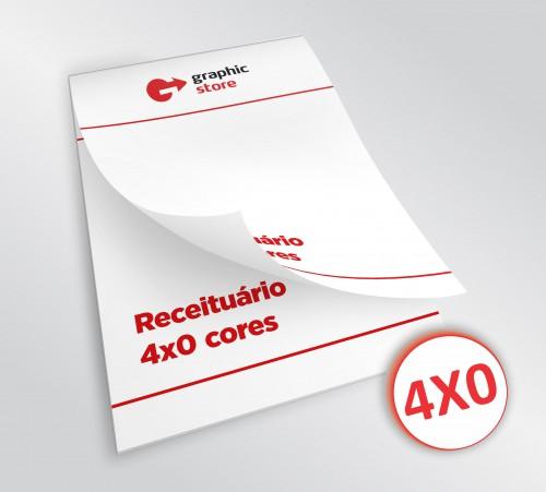 Receituário - 4x0 - 14,8x21cm - Impressão offset - 20 blocos