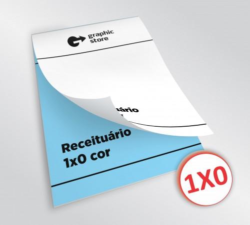 Receituário - 1x0 - 14,8x21cm - Impressão offset - 40 blocos