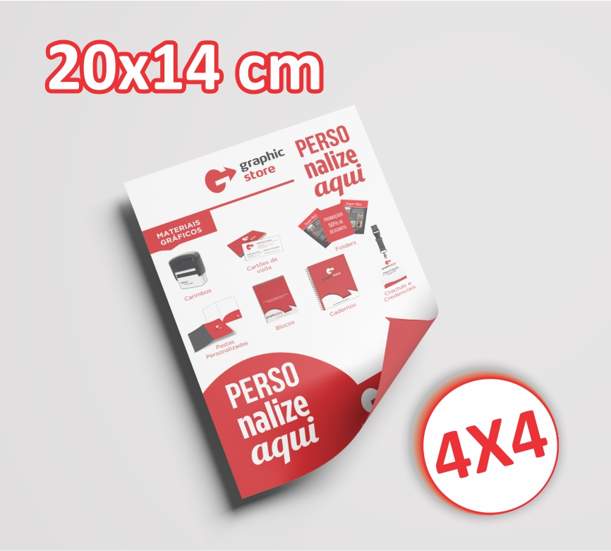 1000 Panfletos/folders - 14x20cm - 4x4 cores