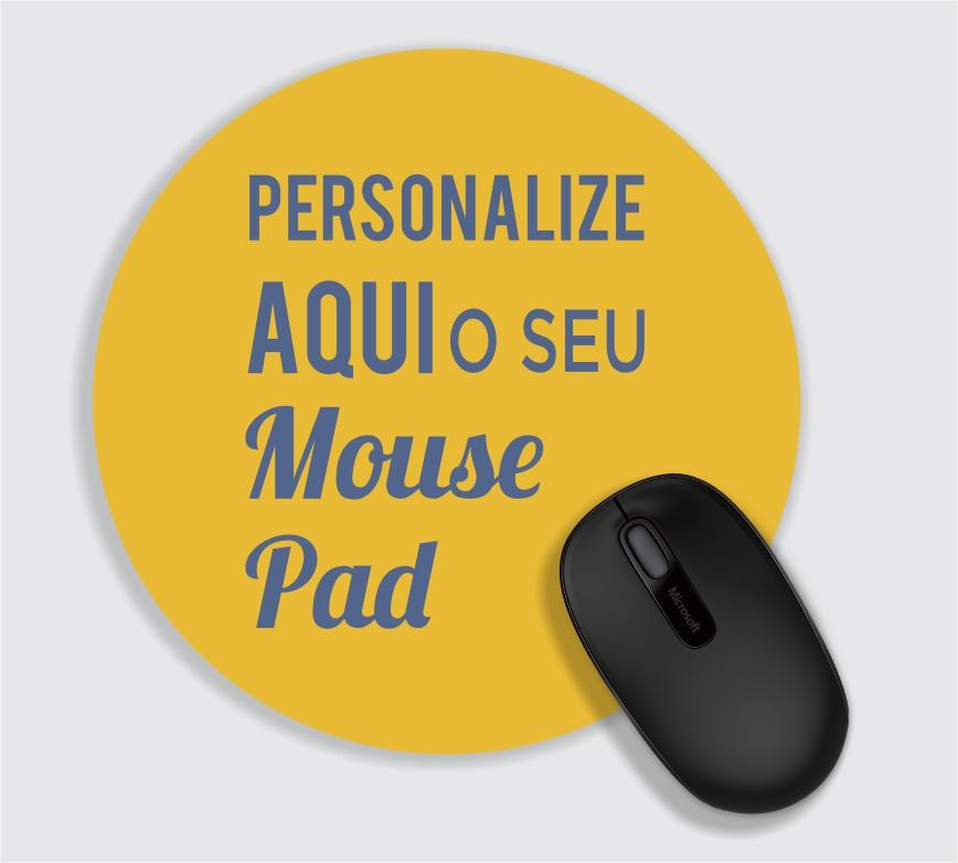 Mouse Pad Redondo - 11 a 30 unidades