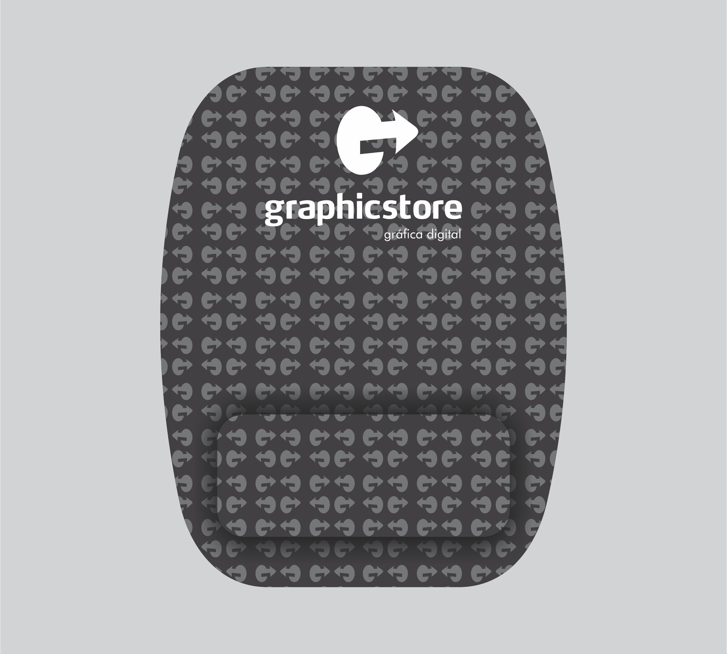 Mouse Pad Retangular com Descanso - 31 a 50 unidades