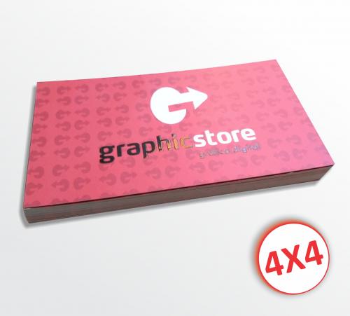 250 cartões de visita premium 4x4