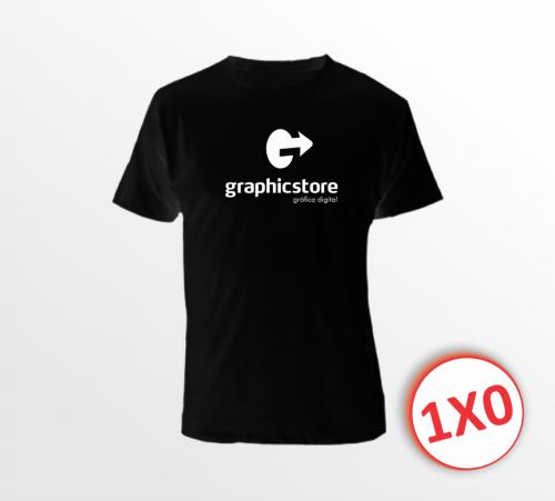 Camiseta Preta - 1x0 - Estampa A3 (P, M, G, GG)