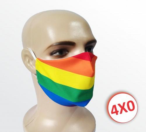 Máscara de Tecido Duplo - 51 a 100 un. - Arco-íris
