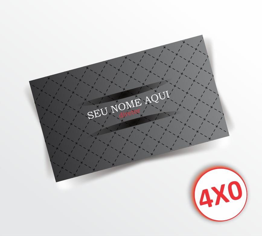 100 Cartões de visita couchê 4x0