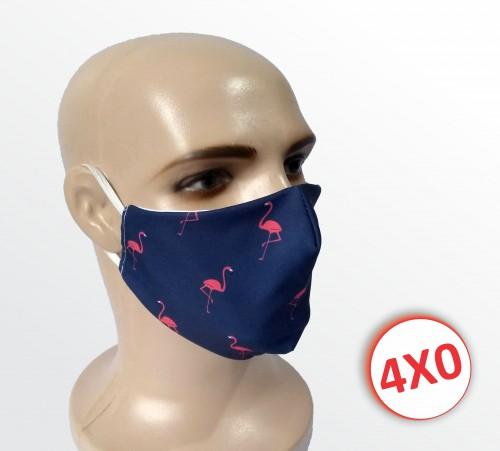 Máscara de Tecido Duplo - 31 a 50 un. - Flamingo