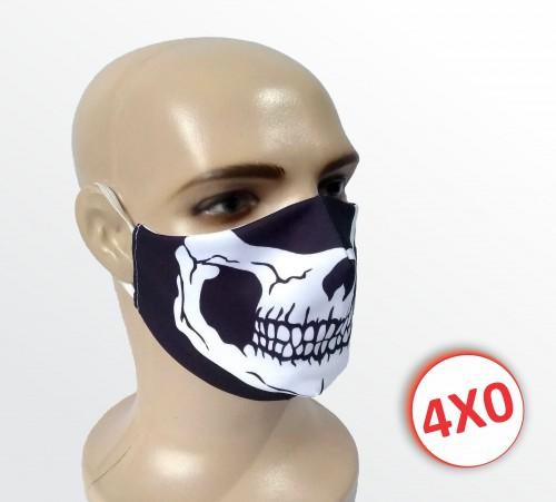 Máscara de Tecido Duplo - 02 a 10 un. - Caveira