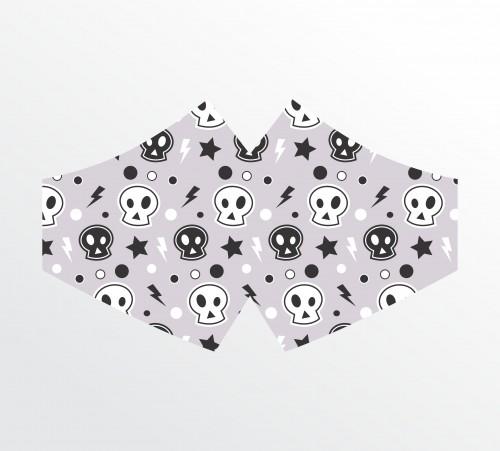 Máscara de Tecido Duplo - 31 a 50 un. - Caveirinhas