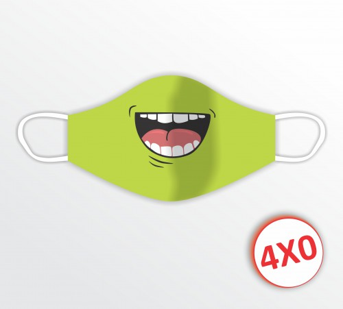 Máscara de Tecido Duplo - 02 a 10 unidades - Hulk