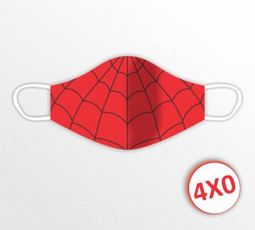 Máscara de Tecido Duplo - 11 a 30 unidades - Homem Aranha